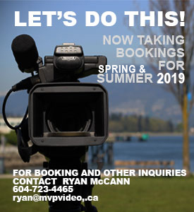 now Taking bookings for camera work for the summer of 2018 - Contact me ryan@mvpvideo.ca